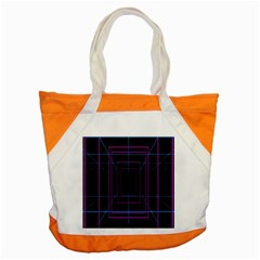 Retro Neon Grid Squares And Circle Pop Loop Motion Background Plaid Purple Accent Tote Bag