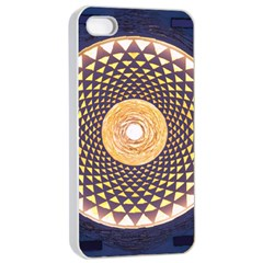 Sahasrara Blue Apple Iphone 4/4s Seamless Case (white) by Mariart