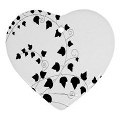 Black Leaf Ornament (heart)