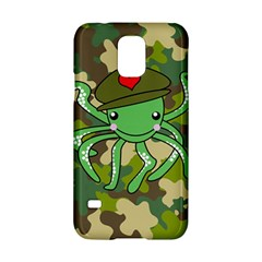 Octopus Army Ocean Marine Sea Samsung Galaxy S5 Hardshell Case  by Nexatart