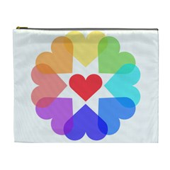 Heart Love Romance Romantic Cosmetic Bag (xl)