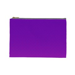 Halftone Background Pattern Purple Cosmetic Bag (large)  by Nexatart