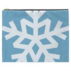 Snowflake Snow Flake White Winter Cosmetic Bag (xxxl)  by Nexatart