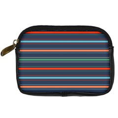Horizontal Line Blue Green Digital Camera Cases