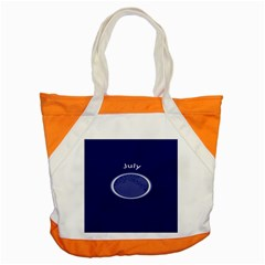 Moon July Blue Space Accent Tote Bag