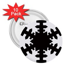 Snowflakes Black 2 25  Buttons (10 Pack)  by Mariart
