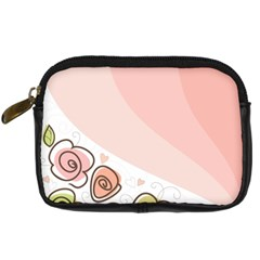 Flower Sunflower Wave Waves Pink Digital Camera Cases