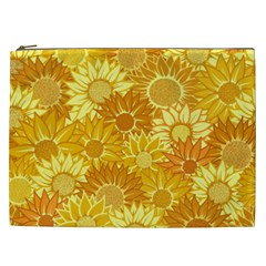 Flower Sunflower Floral Beauty Sexy Cosmetic Bag (xxl)  by Mariart