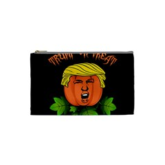Trump Or Treat  Cosmetic Bag (small)  by Valentinaart