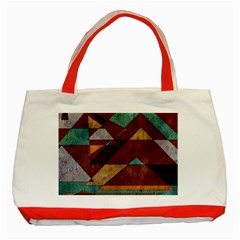 Turquoise And Bronze Triangle Design With Copper Classic Tote Bag (red)