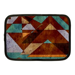 Turquoise And Bronze Triangle Design With Copper Netbook Case (medium)  by digitaldivadesigns