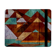 Turquoise And Bronze Triangle Design With Copper Samsung Galaxy Tab Pro 8 4  Flip Case by digitaldivadesigns