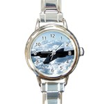 U-2 Dragon Lady Round Italian Charm Watch
