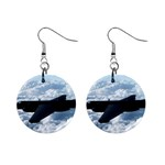 U-2 Dragon Lady 1  Button Earrings