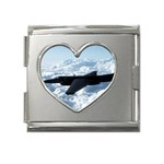 U-2 Dragon Lady Mega Link Heart Italian Charm (18mm)