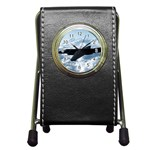 U-2 Dragon Lady Pen Holder Desk Clock