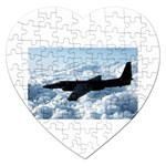 U-2 Dragon Lady Jigsaw Puzzle (Heart)