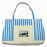 U-2 Dragon Lady Striped Blue Tote Bag