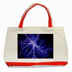 Blue Sky Light Space Classic Tote Bag (red)