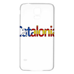 Catalonia Samsung Galaxy S5 Back Case (white) by Valentinaart