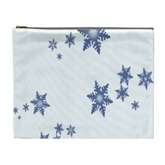 Star Snow Blue Rain Cool Cosmetic Bag (xl) by AnjaniArt