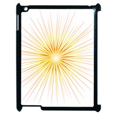 Fireworks Light Yellow Space Happy New Year Red Apple Ipad 2 Case (black)