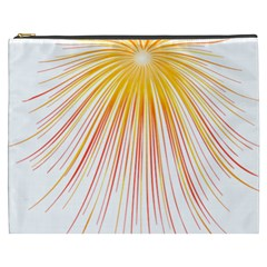 Fireworks Yellow Light Cosmetic Bag (xxxl)  by AnjaniArt