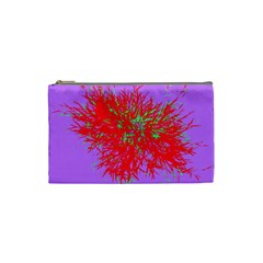 Spot Paint Red Green Purple Sexy Cosmetic Bag (small)  by AnjaniArt