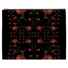 Roses From The Fantasy Garden Cosmetic Bag (xxxl)  by pepitasart