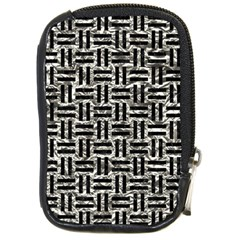 Woven1 Black Marble & Silver Foil Compact Camera Cases by trendistuff
