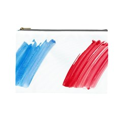 France Flag, Banner Watercolor Painting Art Cosmetic Bag (large)  by picsaspassion