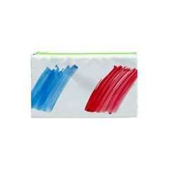 France Flag, Banner Watercolor Painting Art Cosmetic Bag (xs) by picsaspassion