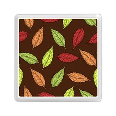 Autumn Leaves Pattern Memory Card Reader (square)