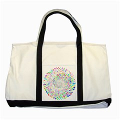 Prismatic Abstract Rainbow Two Tone Tote Bag