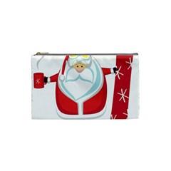Christmas Santa Claus Cosmetic Bag (small)  by Alisyart