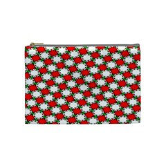 Christmas Star Red Green Cosmetic Bag (medium)