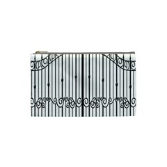 Inspirative Iron Gate Fence Cosmetic Bag (small)