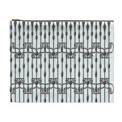 Iron Fence Grey Strong Cosmetic Bag (xl) by Alisyart
