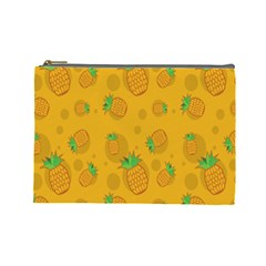 Fruit Pineapple Yellow Green Cosmetic Bag (large)  by Alisyart