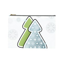 Tree Spruce Xmasts Cool Snow Cosmetic Bag (large)