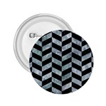 CHEVRON1 BLACK MARBLE & ICE CRYSTALS 2.25  Buttons
