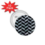 CHEVRON1 BLACK MARBLE & ICE CRYSTALS 1.75  Buttons (10 pack)