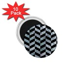 CHEVRON1 BLACK MARBLE & ICE CRYSTALS 1.75  Magnets (10 pack)