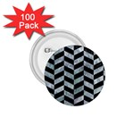 CHEVRON1 BLACK MARBLE & ICE CRYSTALS 1.75  Buttons (100 pack)