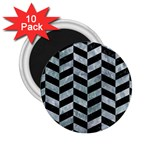 CHEVRON1 BLACK MARBLE & ICE CRYSTALS 2.25  Magnets (10 pack)