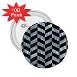 CHEVRON1 BLACK MARBLE & ICE CRYSTALS 2.25  Buttons (100 pack)