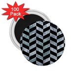 CHEVRON1 BLACK MARBLE & ICE CRYSTALS 2.25  Magnets (100 pack)