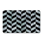 CHEVRON1 BLACK MARBLE & ICE CRYSTALS Magnet (Rectangular)