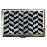 CHEVRON1 BLACK MARBLE & ICE CRYSTALS Cigarette Money Cases