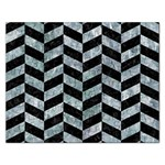 CHEVRON1 BLACK MARBLE & ICE CRYSTALS Rectangular Jigsaw Puzzl